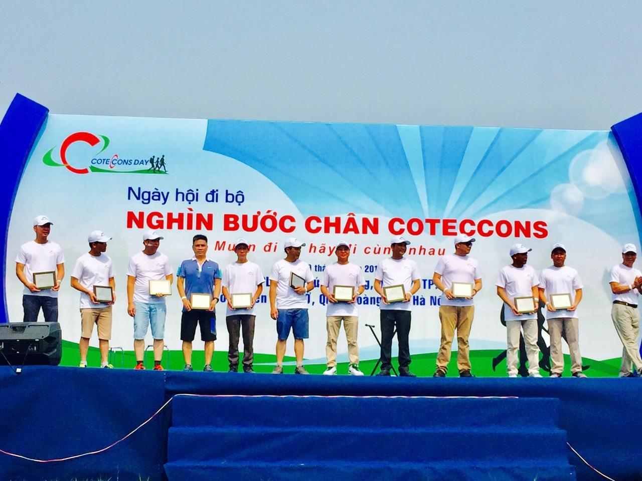 Tham dự Ngày hội đi bộ Coteccons 2017 - HNB đại diện cho khối nhà thầu Bơm bê tông